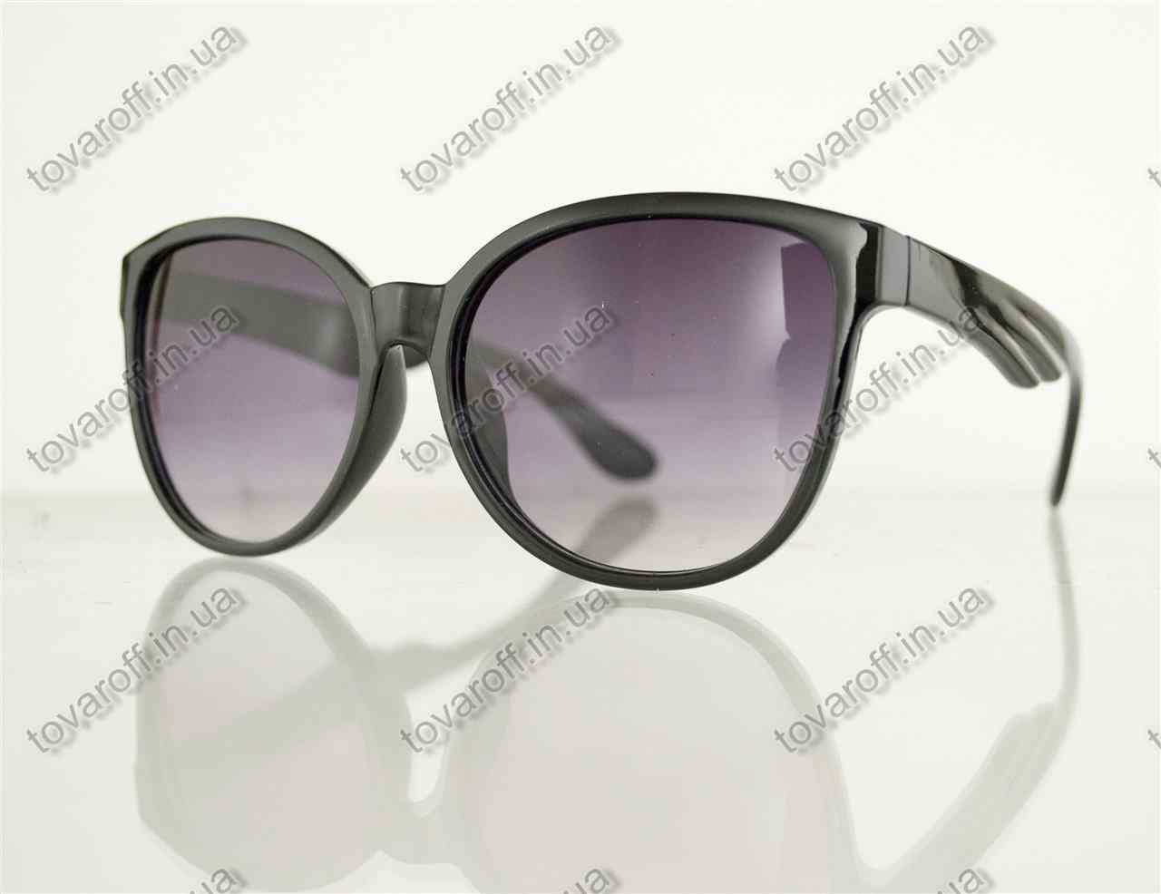 Окуляри унісекс сонцезахисні в стилі Вайфарер (Wayfarer) - Чорні - 1003