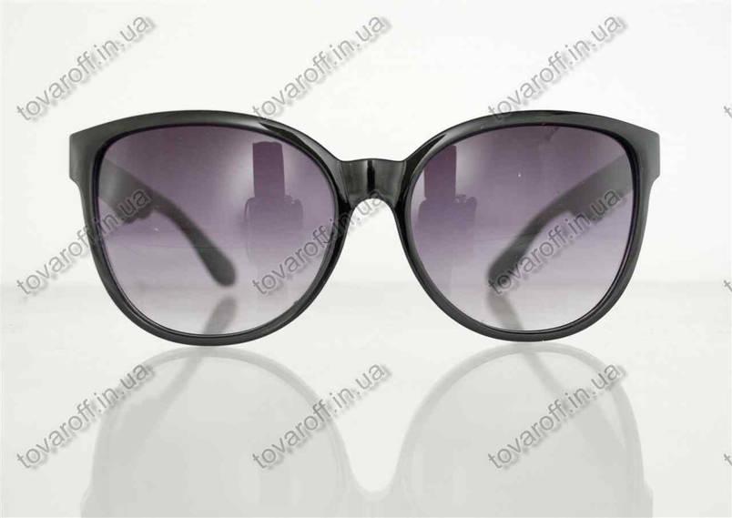 Окуляри унісекс сонцезахисні в стилі Вайфарер (Wayfarer) - Чорні - 1003, фото 2