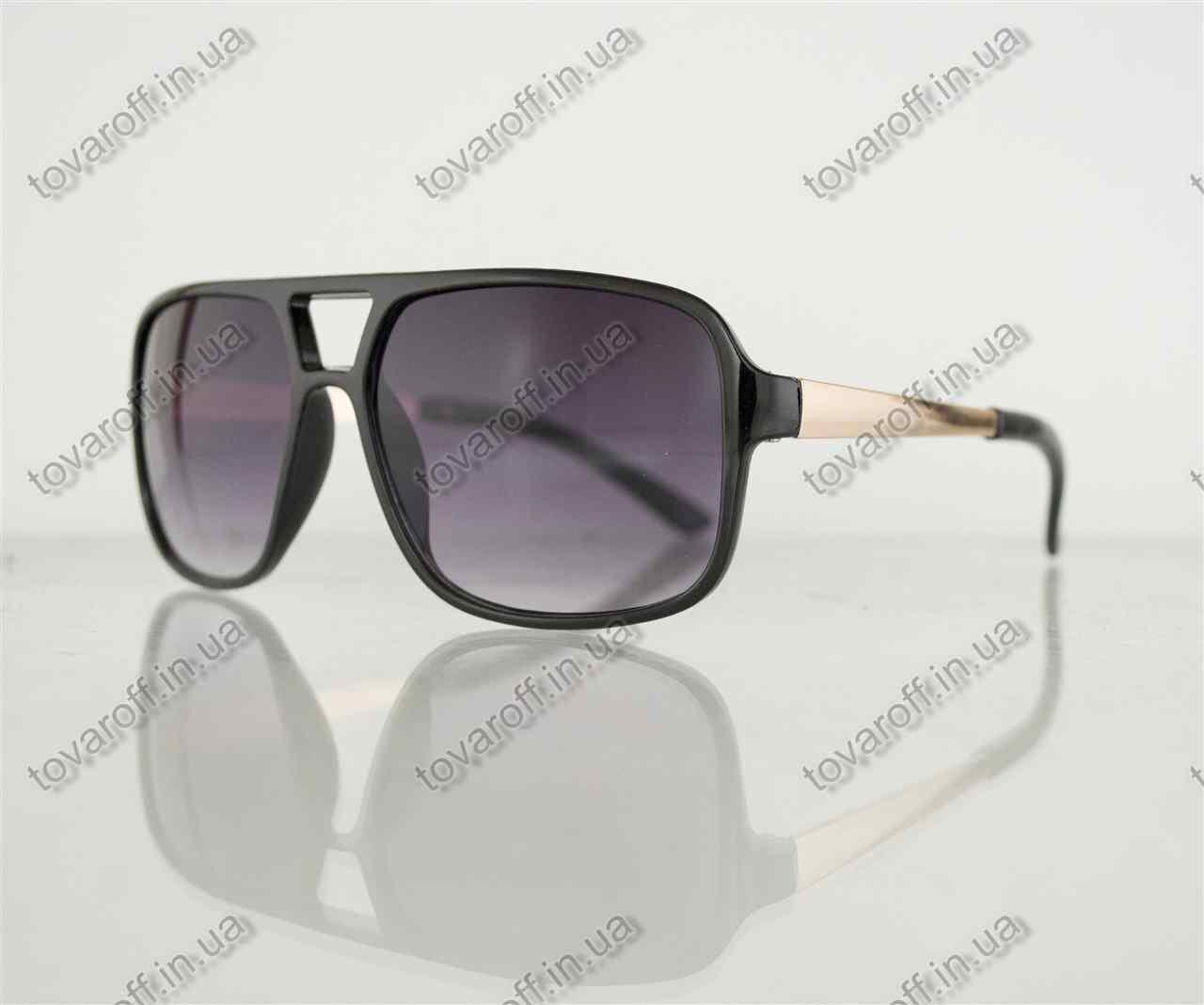 Оптом очки мужские солнцезащитные - Черные - 373
