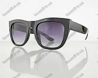 Оптом очки унисекс солнцезащитные в стиле Вайфарер (Wayfarer) - Черные - 025, фото 1