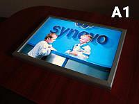 Ультратонкая световая панель фреймлайт (FrameLight), А1 формат (Вид: Двухсторонний;  Способ нанесения : Без рекламного постера;)