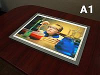 Тонкий лайтбокс фреймлайт (FrameLight), А1 формат (Вид: Двухсторонний;  Нанесение пленки: ORACAL 641 серии 1 слой;), фото 1