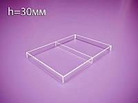 Акрилова коробка, контейнер з перегородкою 220х310х30мм (Товщина акрилу : 3 мм; )