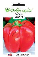 Белл F1 (средньоранній, кубоподібний перець, довжина плоду12 см, діаметр  9 см, товщина стінок 10 мм, маса 250-280 г, червоного кольору) новинка Lakr