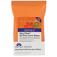 Салфетки для лица от угрей Derma E 25 штук