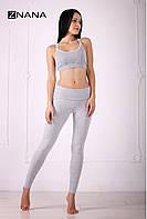 Лосины для беременных Sport, серый меланж, фото 1