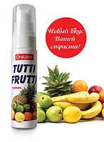 Съедобный гель-лубрикант для орального и вагинального секса Tutti-frutti тропик 30 ml