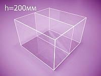 Коробка, контейнер из оргстекла с перегородкой 200х200х200 мм (Толщина акрила : 3 мм; ), фото 1