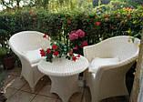 Білі садові меблі. Стіл + 4 крісла, фото 2