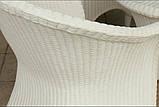 Білі садові меблі. Стіл + 4 крісла, фото 3