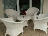 Білі садові меблі. Стіл + 4 крісла, фото 4