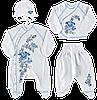 Набір для новонароджених з декором у подарунковій коробці, для хлопчика 56-62