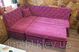 М'який кухонний куточок з місцем для сну (Рожевий)