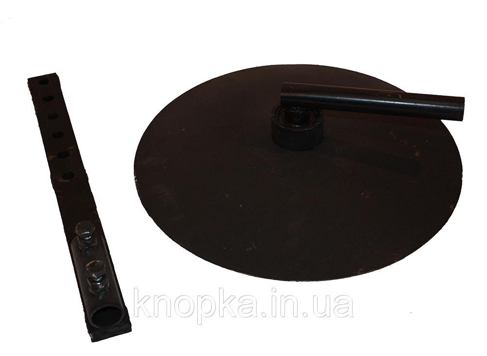 Окучник дисковый Ø39см (пара) + сцепка двойная Премиум