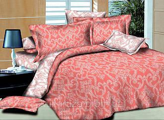 Полуторный комплект постельного белья 145х215 Ажур Коралловый