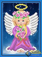 Схема для вышивки бисером - Ангел с цветами, Арт. ДБч5-033