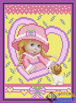 Схема для вышивки бисером картины Маленькая леди (ДБч5-007)