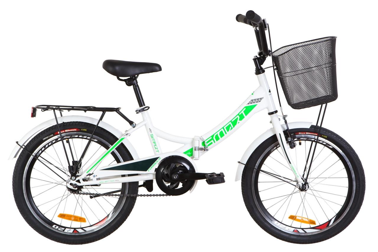 """Складной велосипед 20"""" Formula SMART с корзиной 2020"""