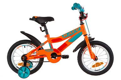 """Детский велосипед 14"""" Formula RACE 2019 (оранжево-бирюзовый)"""