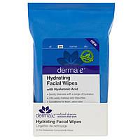 Салфетки для лица увлажняющие Derma E 25 штук