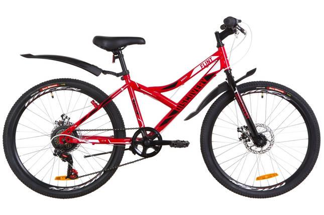 """Подростковый велосипед  24"""" Discovery FLINT DD 2019 (красно-белый с черным), фото 2"""