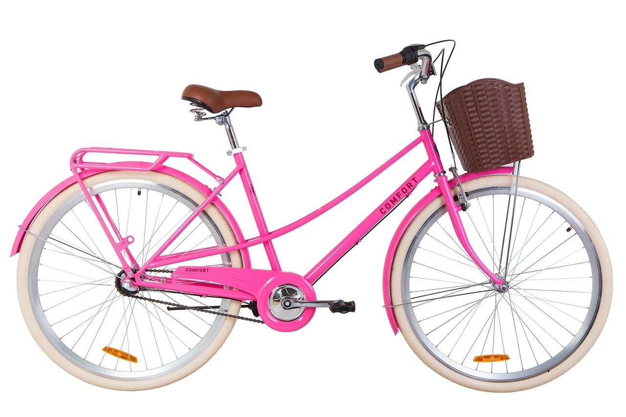 """Городской велосипед 28"""" Dorozhnik COMFORT FEMALE PH 2019 (персиковый)"""