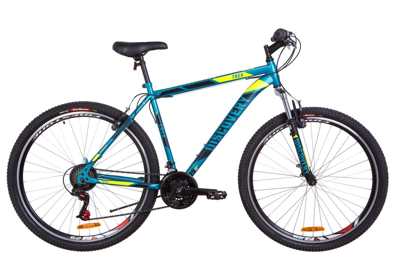 """Горный велосипед 29"""" Discovery TREK 2019 (малахитовый с желтым (м))"""