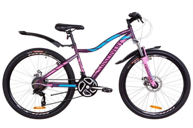 """Горный велосипед 26"""" Discovery KELLY DD 2019 (фиолетово-розовый с голубым (м)), фото 2"""