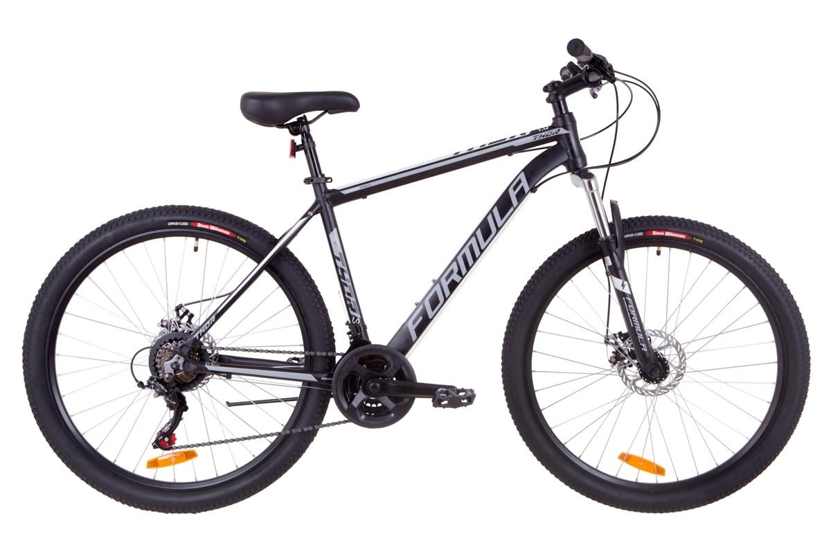 """Горный велосипед 27.5"""" Formula THOR 1.0 DD 2019 (черно-серый с белым (м))"""