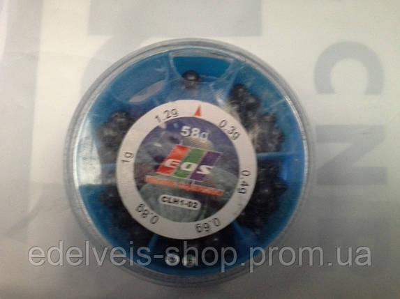 Грузики набор дробь разрезная EOS 58 грамм( хороший свинец), фото 2