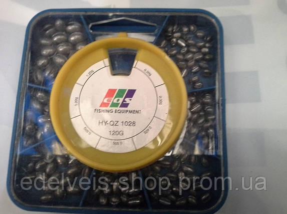 Грузики набор дробь разрезная EOS 120 грамм( хороший свинец), фото 2