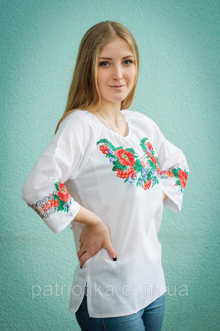 Вышиванка женская машинная вышивка | Вишиванка жіноча машинна вишивка