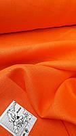 Льняная костюмная ткань оранжевого цвета, фото 1