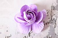 Декоративные цветы камелии диаметр 5 см, сиреневого цвета без ножки