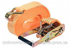Ремінь для кріплення багажу з тріщаткою VOREL, сила натягу- 200/400 кгс, 10 м х 50 мм, 2 шт.