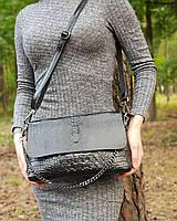 Кожаная сумка с элементам рептилии , кожаные сумки