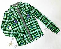 Рубашка на девушку, р. XS, S, M, L, зеленый ПОЛНОМЕР