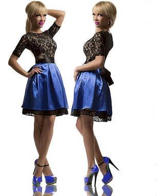 Платье  Гипюр. Атлас 23/844, фото 2
