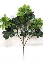 Искусственная ветка азалии (на ветке 2 цвета зеленых листьев )