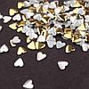 Заклепки для ногтей, сердца золотые 50 шт