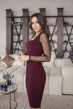 Женское платье футляр Кортни рукава сетка, фото 2