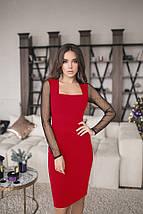 Женское платье футляр Кортни рукава сетка, фото 3