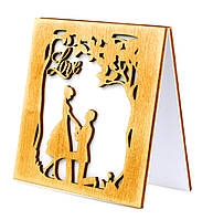 """Валентинка открытка деревянная """"Признание в любви"""", открытки на день влюбленных, открытки св. Валентин"""