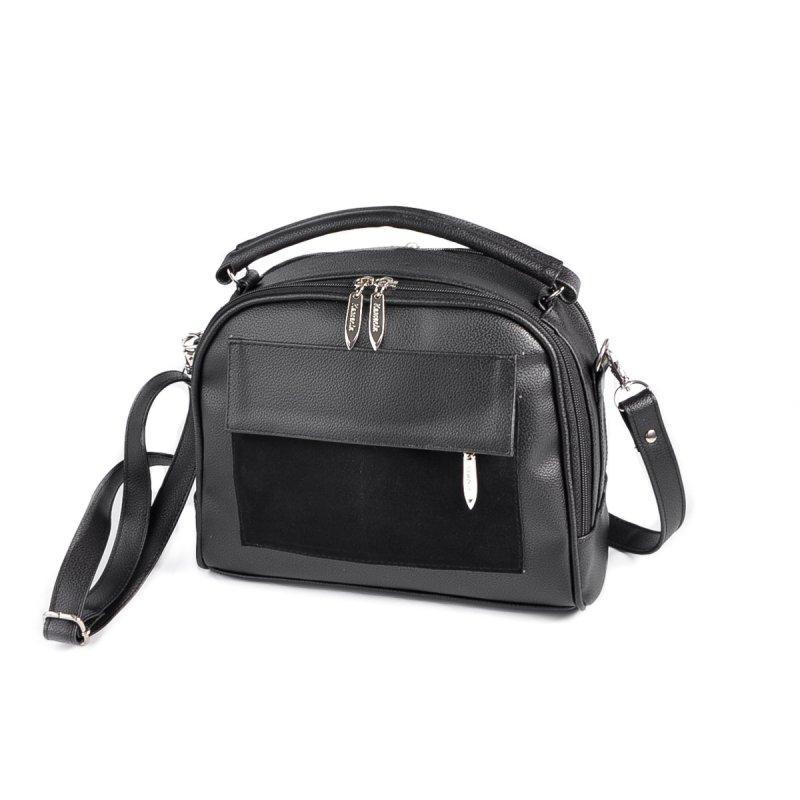 a18d695c65b5 Черная сумка М199-47/замш кроссбоди портфельчик через плечо - Интернет  магазин сумок SUMKOFF