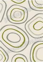 Ковер для дома Opal Cosy structure камни цвет белый с зеленым