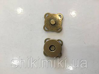 Магнитные кнопки 18 мм MP01-4, цвет антик