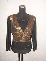 Блуза большого размера Коричневый,50-54рр