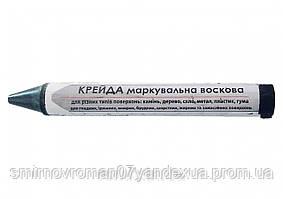 Крейда маркувальна воскова чорна ТМ VIROK для різних поверхонь 13 мм 2 шт
