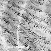 39013 Нотная тетрадь. Ткани с нотками на музыкальную тему. Подойдет для пэчворка, скрапбукинга и декорира.