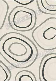 Ковер для дома Opal Cosy structure камни цвет белый с черным